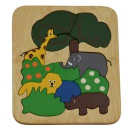 Puzzle aus Holz Zoo