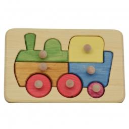 "Kinderpuzzle aus Holz ""Eisenbahn"""