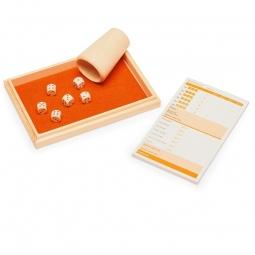 Würfelspiel in Holzbox