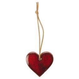 Tonanhänger Herz rot
