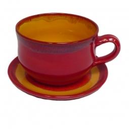 Set: Tasse groß und Untertasse