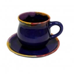 Set: Tasse und Untertasse handgemacht
